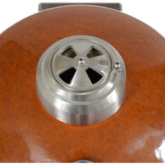 Heat 19 Inch Ceramic Kamado Char Grill, Cover, Rust