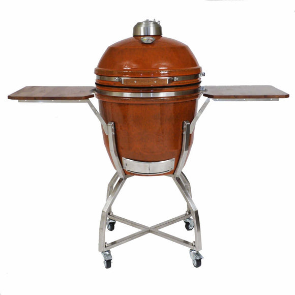 heat-19-inch-kamado-grill-on-cart-front-closed-shelves-up-mnk-grills