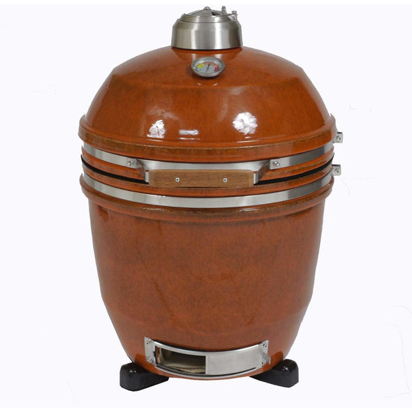 Heat 19 Inch Kamado Grill, Build Kit, Rust ceramic - M&K Grills