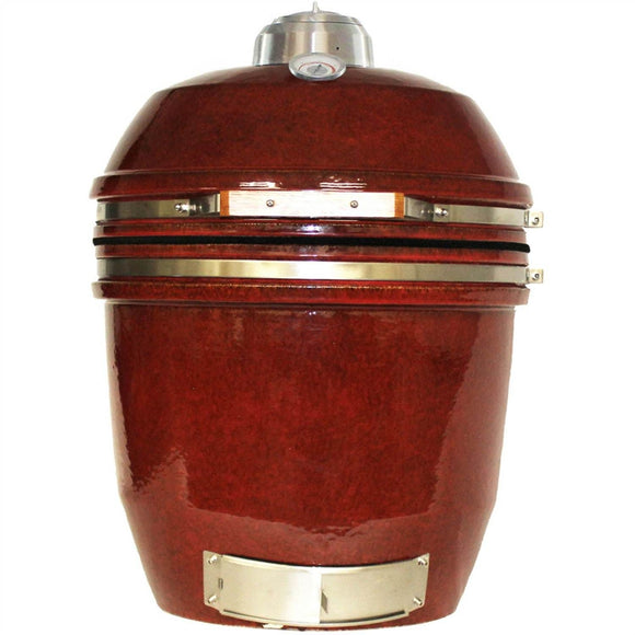 heat-kamado-grill-red-front-closed-mnk-grills