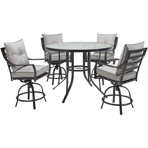 hanover-lavallette-5-piece-4-swivel-bar-chairs-and-bar-glass-table-lavdn5pcbr-slv