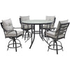 Image of hanover-lavallette-5-piece-4-swivel-bar-chairs-and-bar-glass-table