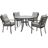 Image of hanover-lavallette-5-piece-4-dining-chairs-and-round-glass-table