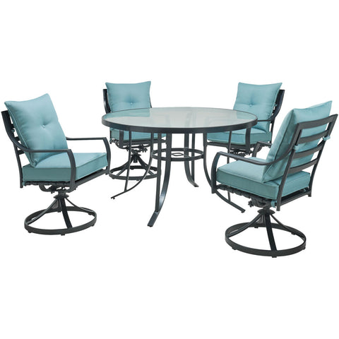 hanover-lavallette-5-piece-4-swivel-dining-chairs-and-round-glass-table