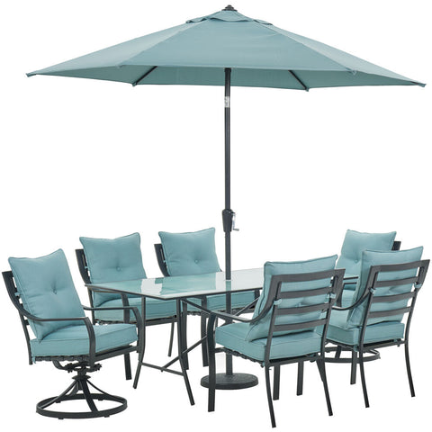 hanover-lavallette-7-piece-4-dining-chairs-2-swivel-chairs-rect.-glass-table-umbrella-and-base-lavdn7pcsw2-blu-su