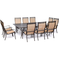 hanover-manor-11-piece-10-sling-dining-chairs-60x84-inch-cast-table-mandn11pc