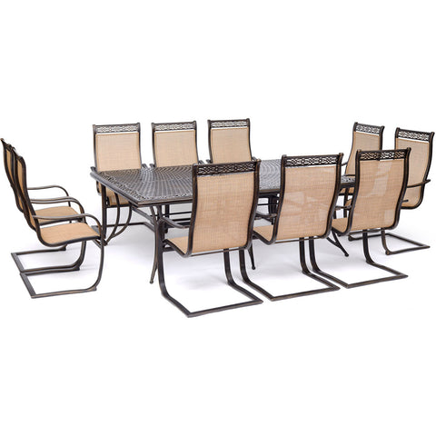 hanover-manor-11-piece-10-c-spring-dining-chairs-60x84-inch-cast-table-mandn11pcsp