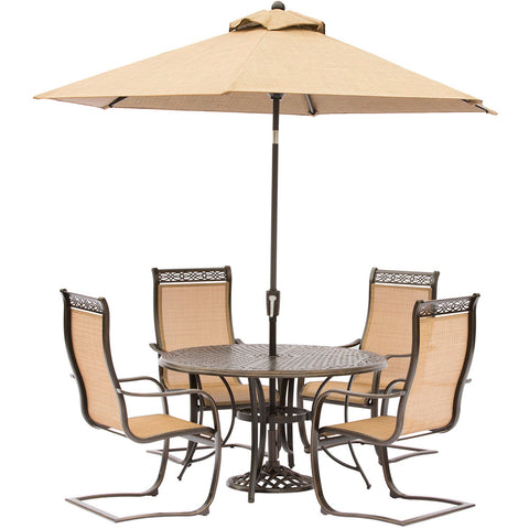 hanover-manor-5-piece-4-c-spring-chairs-48-inch-round-cast-table-umbrella-base-mandn5pcsp-su