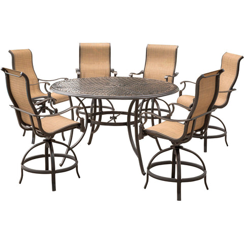 hanover-manor-7-piece-6-sling-counter-height-swivel-chairs-56-inch-round-cast-table-36-inch-height-mandn7pc-br