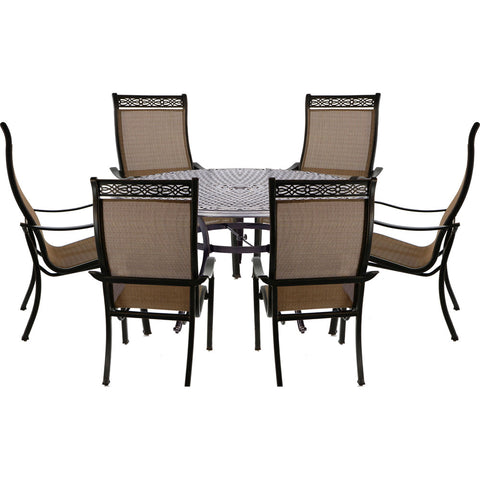 hanover-manor-7-piece-6-sling-dining-chairs-60-inch-round-cast-table-mandn7pcrd