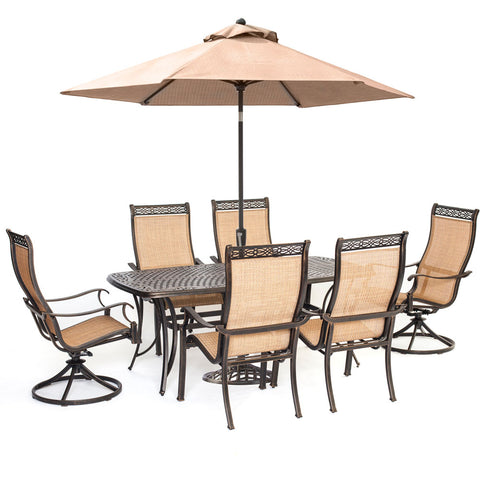 hanover-manor-7-piece-4-sling-dining-chairs-2-sling-swivel-rockers-38x72-cast-table-umbrella-base-mandn7pcsw-2-su