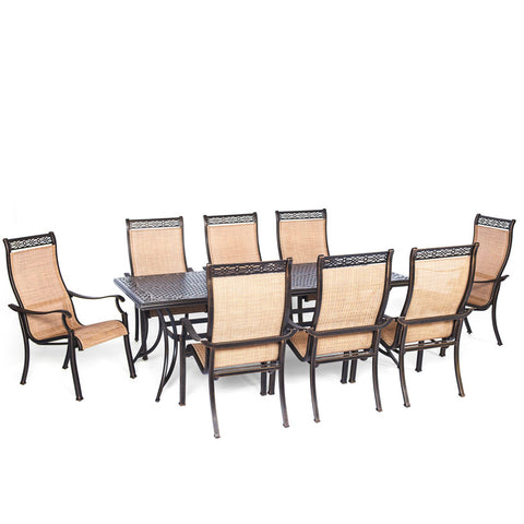 hanover-manor-9-piece-8-sling-dining-chairs-42x84-inch-cast-table-mandn9pc