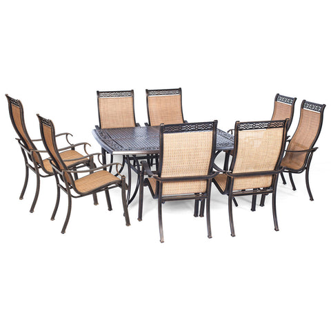hanover-manor-9-piece-8-sling-dining-chairs-60-inch-square-cast-table-mandn9pcsq