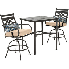hanover-montclair-3-piece-high-dining-2-swivel-chairs-33-inch-square-high-dining-table-mclrdn3pcbrsw2-tan
