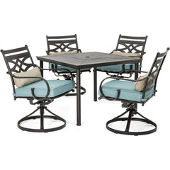 hanover-montclair-5-piece-4-swivel-rockers-40-inch-square-dining-table-mclrdn5pcsqsw4-blu