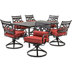hanover-montclair-7-piece-6-swivel-rockers-40x66-inch-dining-table-mclrdn7pcsqsw6-chl