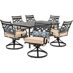 hanover-montclair-7-piece-6-swivel-rockers-40x66-inch-dining-table-mclrdn7pcsqsw6-tan