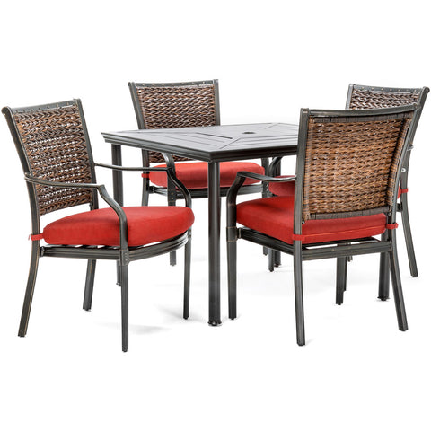 hanover-mercer-5-piece-dining-set-4-woven-back-chairs-square-stamped-table-mercdn5pcsq-red