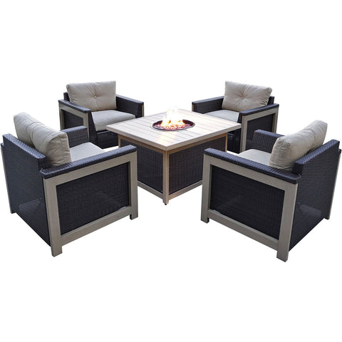 hanover-5-piece-fire-pit-set-4-deep-seating-chairs-square-woven-fire-pit-with-slat-top-mnt5pcfpst-tan