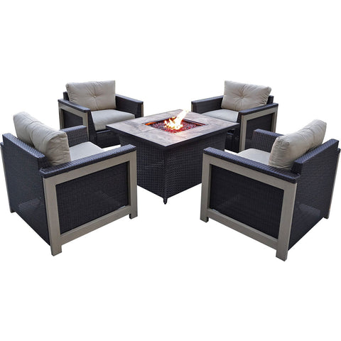 hanover-5-piece-fire-pit-set-4-deep-seating-chairs-coffee-table-fire-pit-with-tan-tile-mnt5pcfp-tan-tn