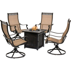 hanover-monaco-5-piece-4-sling-swivel-rockers-and-26-inch-square-fire-pit-mon5pcswfpsq