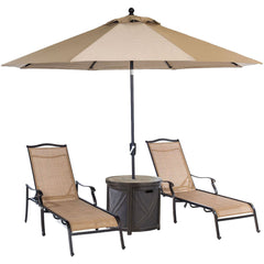 hanover-monaco-3-piece-set-2-sling-chaise-lounges-25-inch-round-tile-umbrella-table-and-umbrella-monchs3pc-rt-su