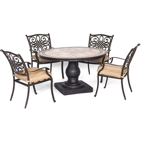 hanover-monaco-5-piece-4-cushion-dining-chairs-51-inch-round-tile-top-table-mondn5pc