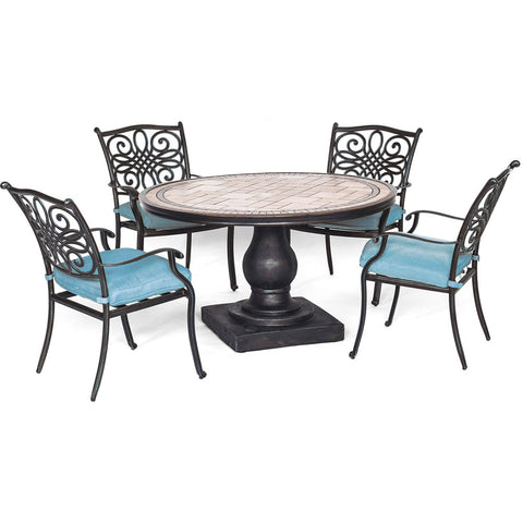 hanover-monaco-5-piece-4-cushion-dining-chairs-51-inch-round-tile-top-table-mondn5pc-blu