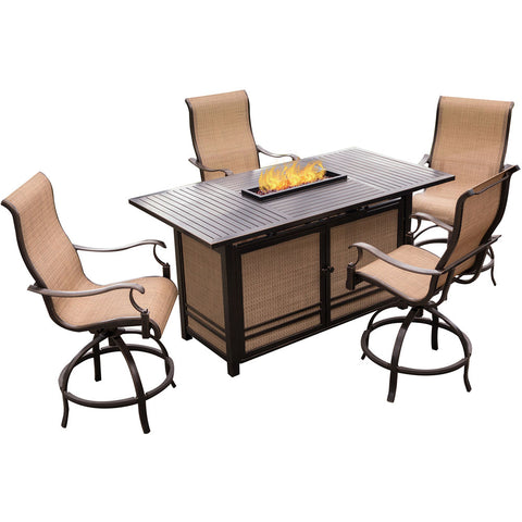 hanover-5-piece-fire-pit-set-bar-height-fire-pit-table-4-cushion-swivel-chairs-cover-mondn5pcfp-br-sc