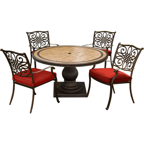 hanover-monaco-5-piece-4-cushion-dining-chairs-51-inch-round-tile-top-table-mondn5pc-red