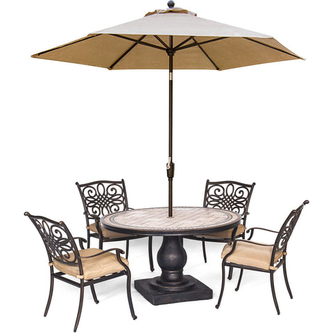 hanover-monaco-5-piece-4-cushion-dining-chairs-51-inch-round-tile-top-table-umbrella-mondn5pc-su