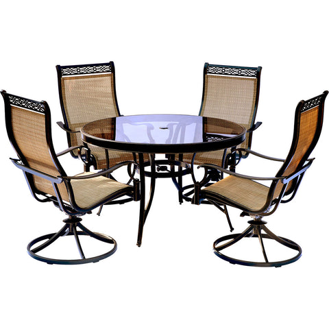 hanover-monaco-5-piece-4-sling-swivel-rockers-48-inch-round-glass-top-table-mondn5pcswg