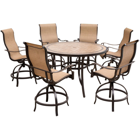 hanover-monaco-7-piece-6-sling-swivel-counter-height-chairs-56-inch-round-tile-table-36-inch-height-mondn7pcbr