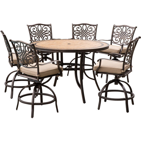 hanover-monaco-7-piece-6-cushion-swivel-counter-height-chairs-56-inch-round-tile-table-36-inch-height-mondn7pcbr-c
