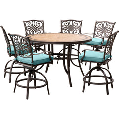 hanover-monaco-7-piece-6-cushion-swivel-counter-height-chairs-56-inch-round-tile-table-36-inch-height-mondn7pcbr-c-blu