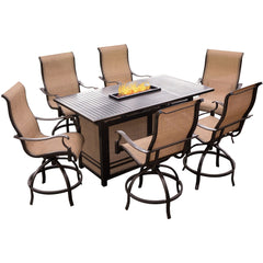 hanover-7-piece-fire-pit-set-bar-height-fire-pit-table-6-cushion-swivel-chairs-cover-mondn7pcfp-br-sc