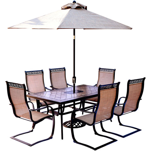 hanover-monaco-7-piece-6-c-spring-chairs-40x68-inch-tile-top-table-umbrella-base-mondn7pcsp-su