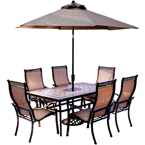 hanover-monaco-7-piece-6-sling-dining-chairs-40x68-inch-tile-top-table-umbrella-base-mondn7pc-su