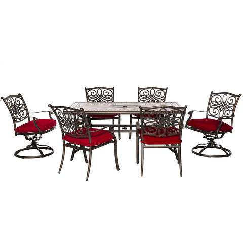 hanover-monaco-7-piece-4-cushion-dining-chairs-2-cushion-swivel-chairs-40x68-inch-tile-top-table-mondn7pcsw-2-red