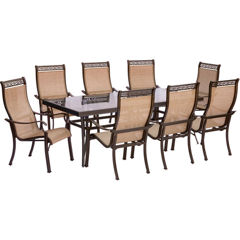 hanover-monaco-9-piece-8-sling-dining-chairs-42x84-inch-glass-top-table-mondn9pcg