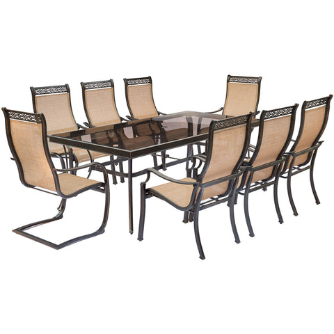 hanover-monaco-9-piece-6-sling-dining-chairs-2-c-spring-chairs-42x84-inch-glass-table-mondn9pcsp2g