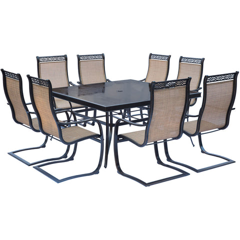 hanover-monaco-9-piece-8-c-spring-dining-chairs-60-inch-square-glass-top-table-mondn9pcspsqg