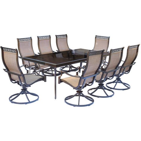 hanover-monaco-9-piece-8-sling-swivel-rockers-42x84-inch-glass-top-table-mondn9pcswg