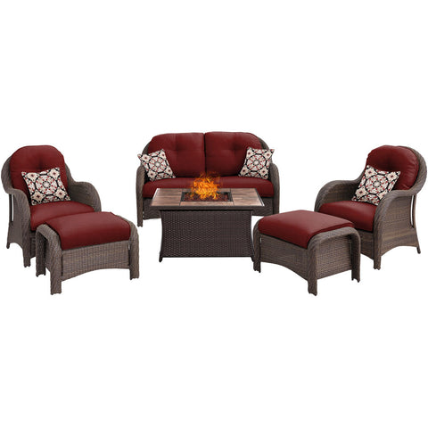 hanover-newport-6-piece-fire-pit-set-with-tan-tile-top-newpt6pcfp-red-tn