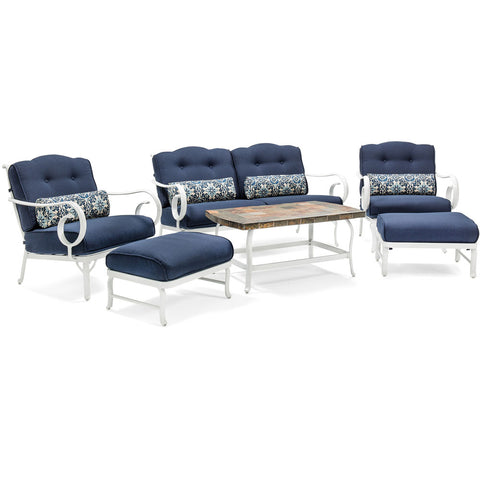 hanover-6-piece-seating-set-with-aluminum-frame-with-white-finish-stone-top-coffee-table-ocecst6pc-nvy