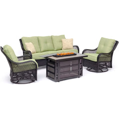 hanover-orleans-4-piece-fire-pit-2-swivel-gliders-sofa-rectangle-kd-fire-pit-with-tile-orl4pcrecfp-grn