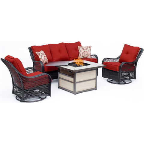 hanover-orleans-4-piece-fire-pit-2-swivel-gliders-sofa-square-kd-fire-pit-with-tile-orl4pcsqfp-bry