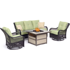 hanover-orleans-4-piece-fire-pit-2-swivel-gliders-sofa-square-kd-fire-pit-with-tile-orl4pcsqfp-grn