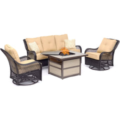 hanover-orleans-4-piece-fire-pit-2-swivel-gliders-sofa-square-kd-fire-pit-with-tile-orl4pcsqfp-tan