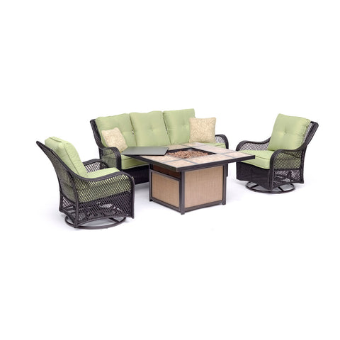 hanover-orleans-4-piece-fire-pit-sofa-2-cushioned-swivel-rockers-tile-top-fire-pit-orl4pctfpsw2-grn